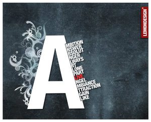 Typography A - by lemondesign