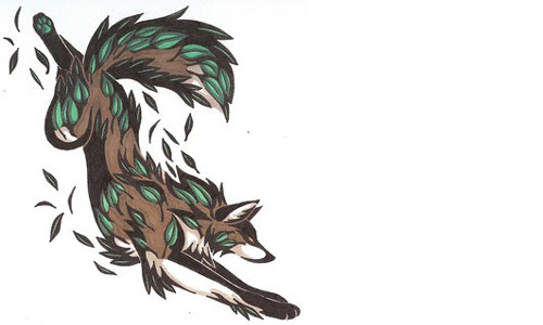 Lets finish this list with a nice Earth Element Wolf Tattoo.