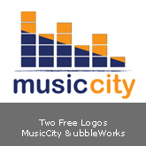 Two Free Logos: MusicCity & BubbleWorks [.ai & .psd]