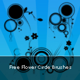 Flower Circle Brushes: Set #09