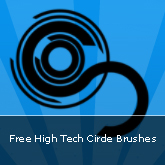 High Tech Circle Brushes: Set #11
