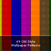49 Old Style Wallpaper Patterns: Set #01