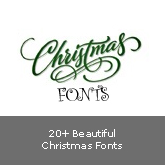 20+ Beautiful Christmas Fonts