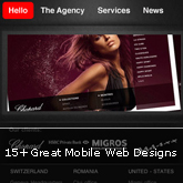 15+ Great Mobile Web Designs