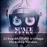 20 Beautiful Retro & Vintage Photoshop Tutorials