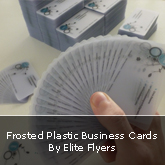 Frosted Plastic Business Cards By Elite Flyers [Review + Giveaway Announcement]