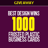 GIVEAWAY: 1000 Frosted Plastic Business Cards and $100 Cash!