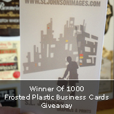 Winner Of 1000 Frosted Plastic Business Cards Giveaway