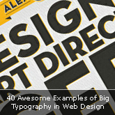 40 Awesome Examples of Big Typography in Web Design