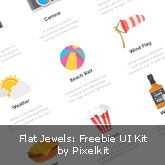 Flat Jewels: Freebie UI Kit by Pixelkit