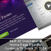 Best 10 Inspirational Home Page Designs Continue To Entice In 2014