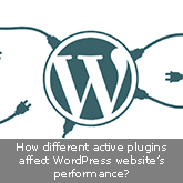 How different active plugins affect WordPress website's performance?